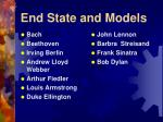 end state and models