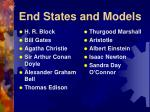 end states and models