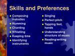 skills and preferences15