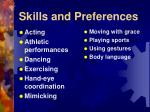 skills and preferences19