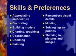 skills preferences11