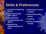 skills preferences27
