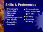 skills preferences31