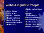 verbal linguistic people