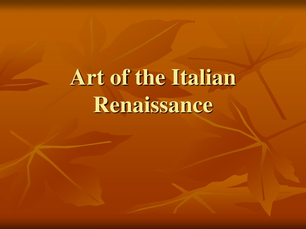 art of the italian renaissance l.