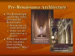 pre renaissance architecture