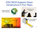 epa orcr supports green infrastructure in four ways