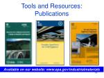 tools and resources publications