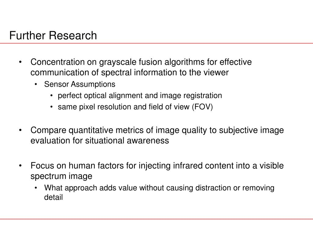 Concentration on grayscale fusion algorithms for effective communication of spectral information to the viewer