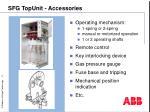 sfg topunit accessories