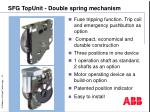 sfg topunit double spring mechanism