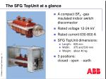 the sfg topunit at a glance