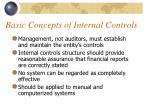 basic concepts of internal controls