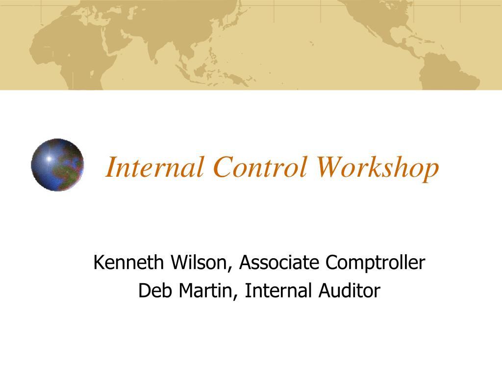 internal control workshop l.