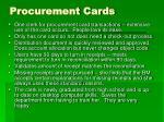 procurement cards
