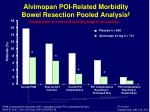alvimopan poi related morbidity bowel resection pooled analysis