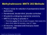 methylnaltrexone mntx 203 methods