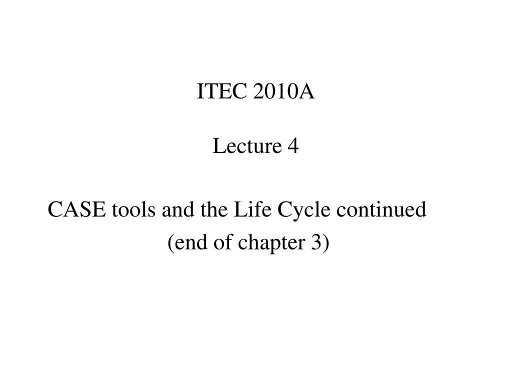 itec 2010a lecture 4 l.