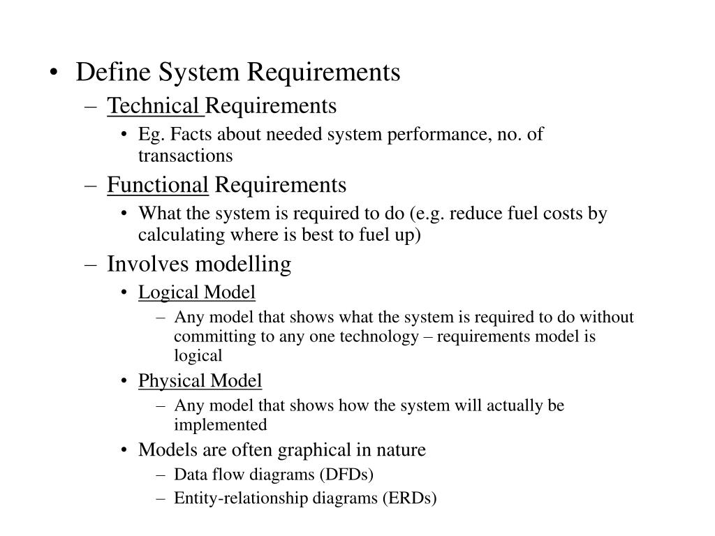 Define System Requirements