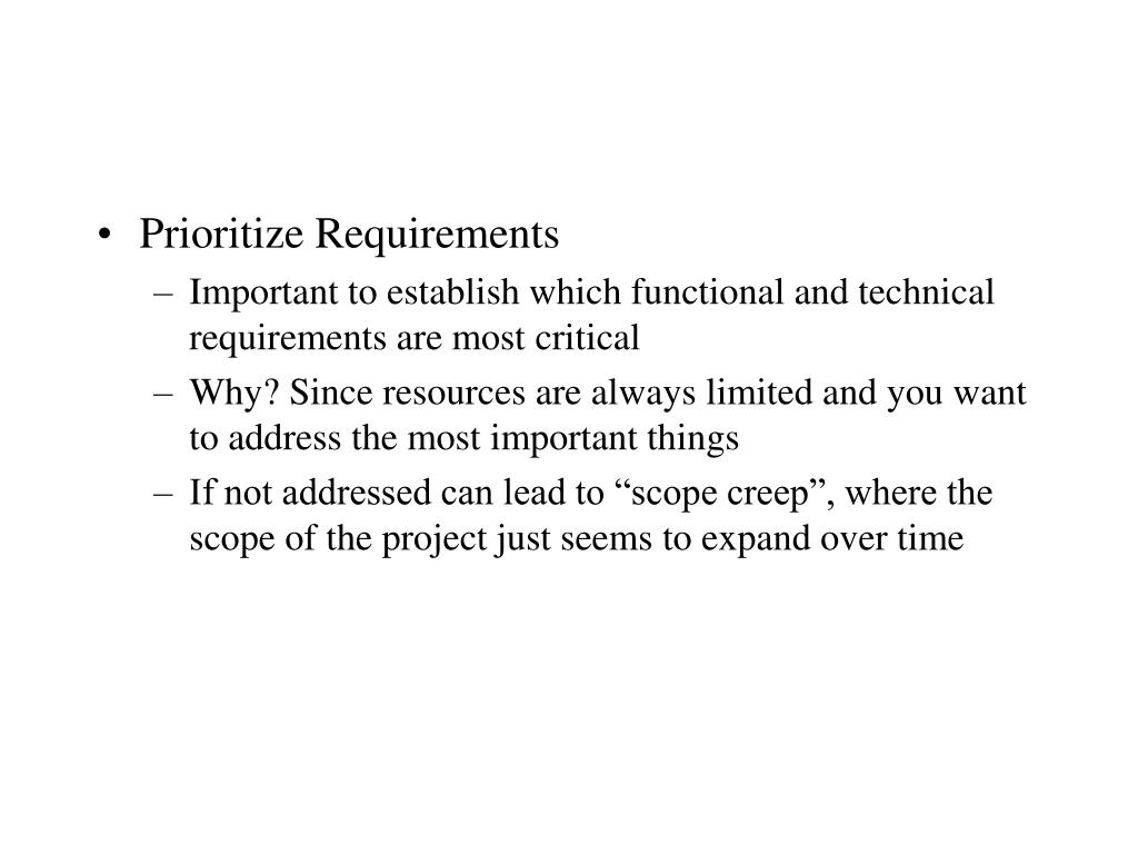 Prioritize Requirements