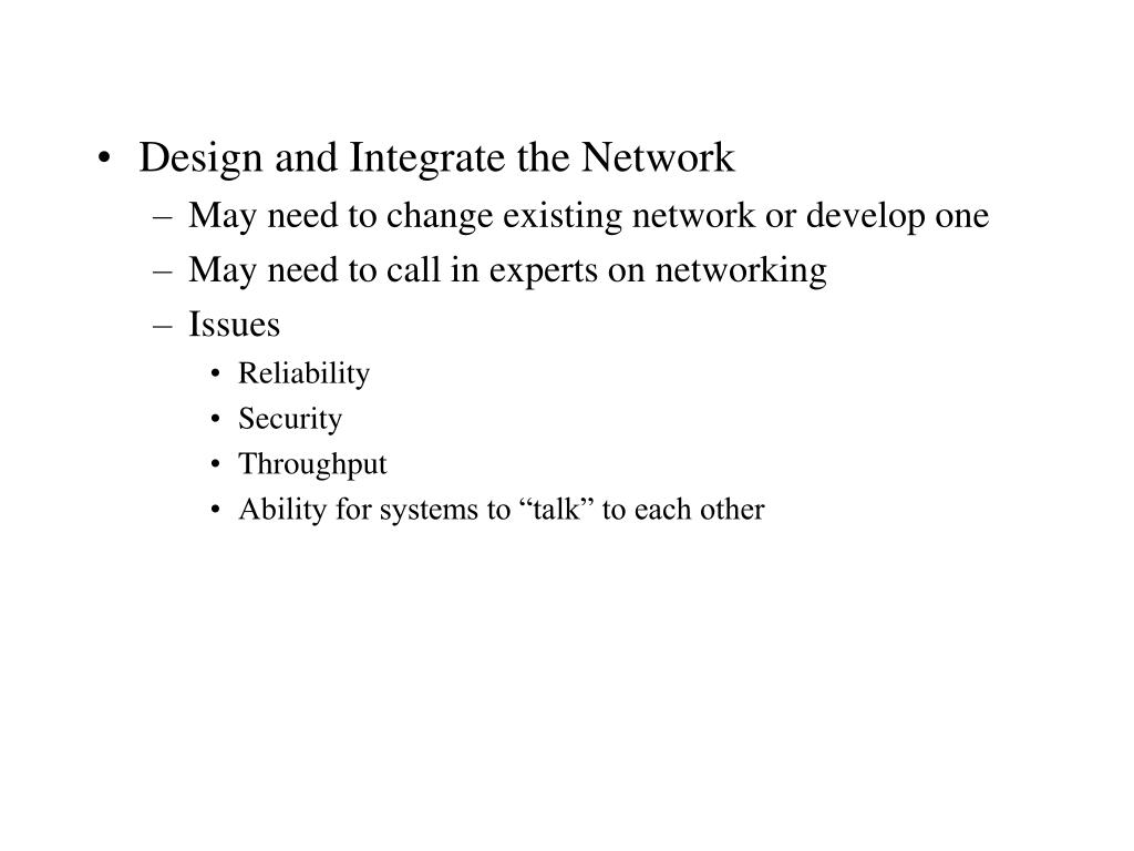 Design and Integrate the Network