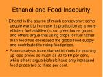 ethanol and food insecurity
