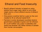 ethanol and food insecurity16