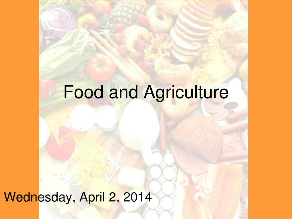 food and agriculture l.