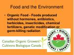 food and the environment