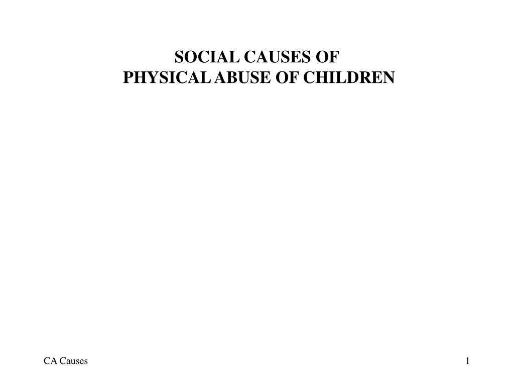 social causes of physical abuse of children l.