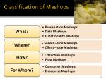 classification of mashups