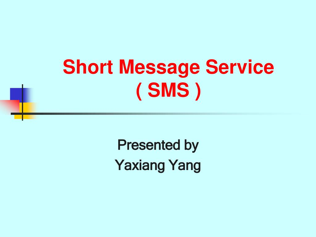 short message service sms l.