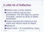 a little bit of reflection