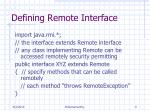 defining remote interface
