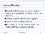 name binding