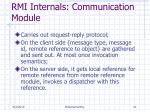 rmi internals communication module