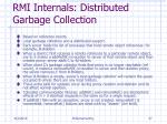 rmi internals distributed garbage collection