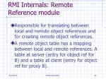 rmi internals remote reference module