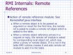 rmi internals remote references
