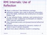 rmi internals use of reflection