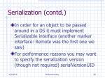 serialization contd