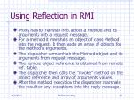 using reflection in rmi