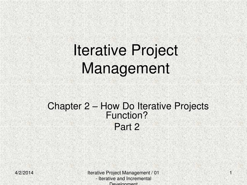 iterative project management l.