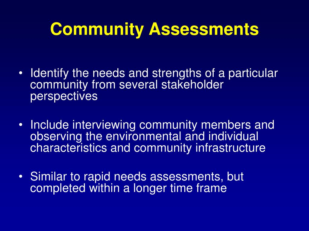 Community Assessments