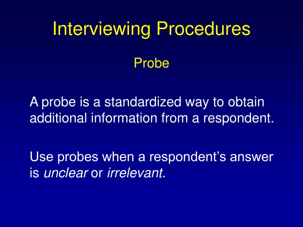 Interviewing Procedures