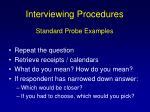 interviewing procedures88