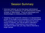 session summary131
