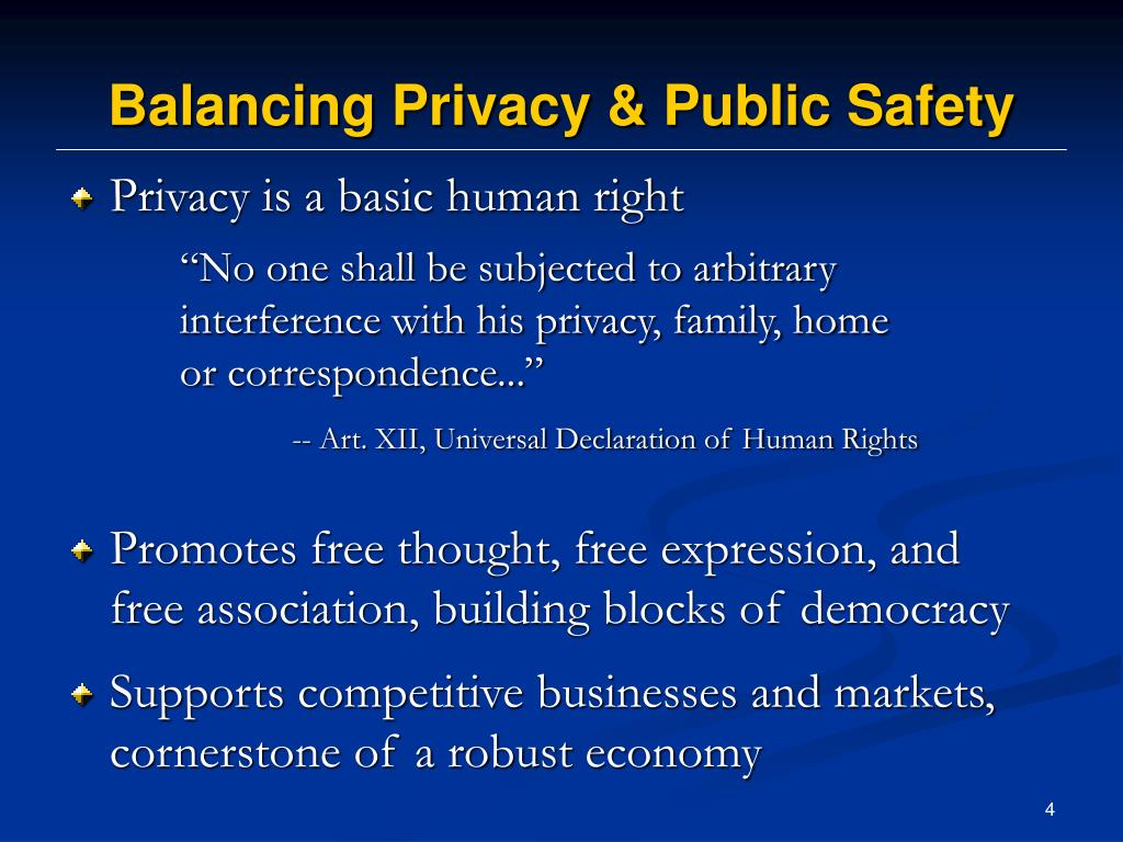 Balancing Privacy & Public Safety