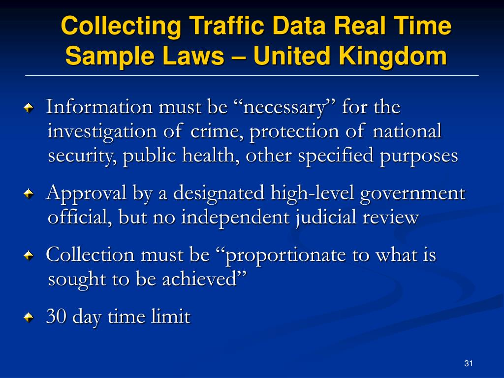 Collecting Traffic Data Real Time