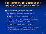 considerations for searches and seizures of intangible evidence57